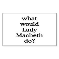 Lady Macbeth Rectangle Decal