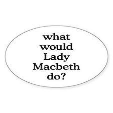 Lady Macbeth Oval Decal