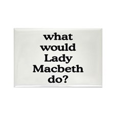Lady Macbeth Rectangle Magnet