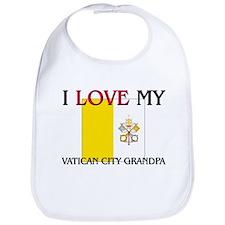I Love My Vatican City Grandpa Bib