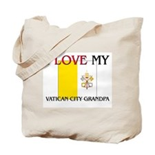 I Love My Vatican City Grandpa Tote Bag
