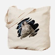 See Through Wolf Tote Bag