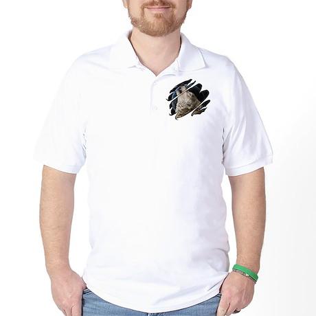 See Through Wolf Golf Shirt