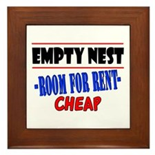Empty Nest Framed Tile
