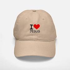 I LOVE JESUS Baseball Baseball Cap