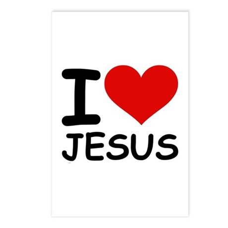 I LOVE JESUS Postcards (Package of 8)