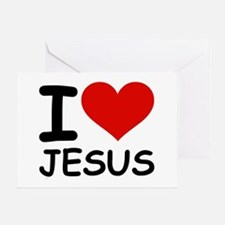 I LOVE JESUS Greeting Card
