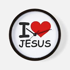 I LOVE JESUS Wall Clock