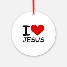 I LOVE JESUS Ornament (Round)