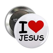 """I LOVE JESUS 2.25"""" Button (100 pack)"""