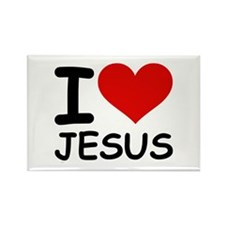 I LOVE JESUS Rectangle Magnet