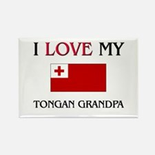 I Love My Tongan Grandpa Rectangle Magnet