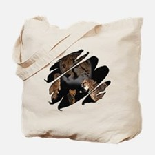 See Through Cheetah Tote Bag