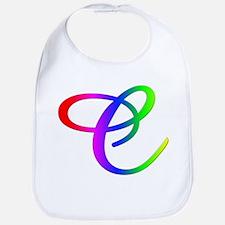 Rainbow Cursive C Bib
