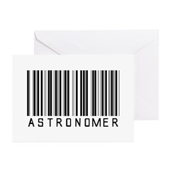 Astronomer Barcode Greeting Cards (Pk of 10)