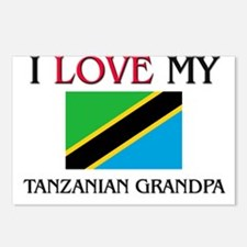 I Love My Tanzanian Grandpa Postcards (Package of