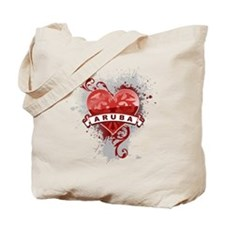 Heart Aruba Tote Bag
