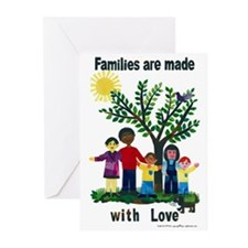 Families are made with love - Greeting Cards (Pk o