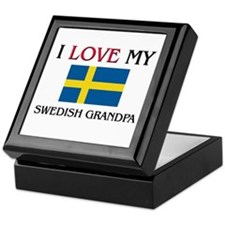 I Love My Swedish Grandpa Keepsake Box