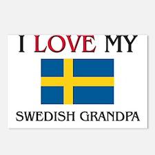I Love My Swedish Grandpa Postcards (Package of 8)