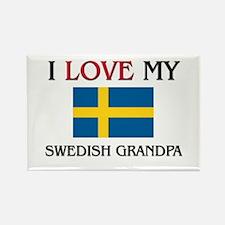 I Love My Swedish Grandpa Rectangle Magnet