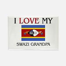 I Love My Swazi Grandpa Rectangle Magnet