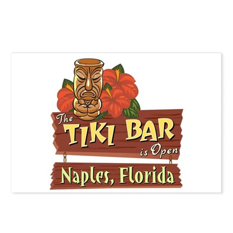 Naples Tiki Bar - Postcards (Package of 8)