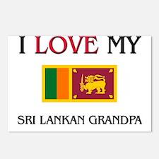 I Love My Sri Lankan Grandpa Postcards (Package of
