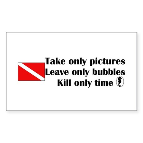 Take Only Pictures Rectangle Sticker