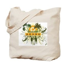 Palm Tree Aruba Tote Bag