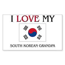 I Love My South Korean Grandpa Rectangle Decal