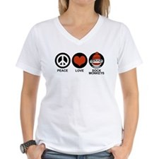 Peace Love Sock Monkeys Shirt