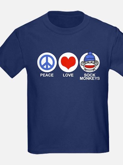 Peace Love Sock Monkeys T