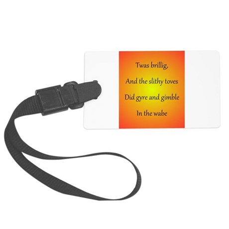 Jabberwocky First Line Large Luggage Tag