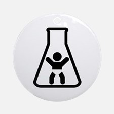 Test Tube Baby Ornament (Round)