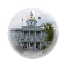 Concord NH State House Ornament (Round)