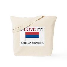 I Love My Serbian Grandpa Tote Bag