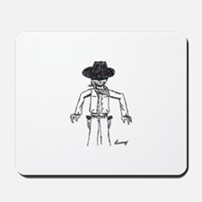 Cowboy Sketch Mousepad