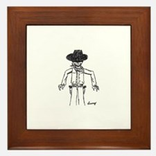 Cowboy Sketch Framed Tile