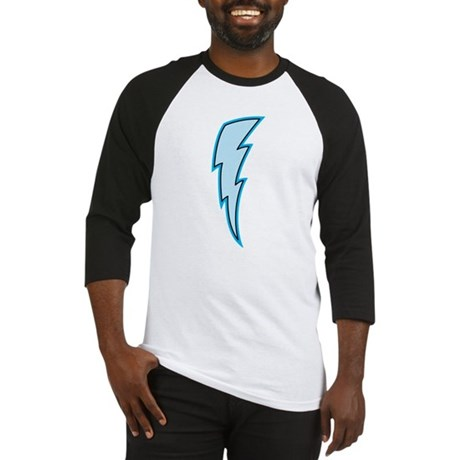 Light Blue Lightning Bolt Baseball Jersey