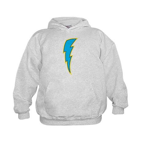 Blue Lightning Bolt Kids Hoodie