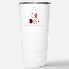 Chi Omega Triangle Stainless Steel Travel Mug