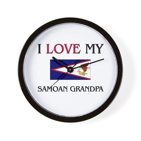 I Love My Samoan Grandpa Wall Clock