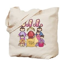 Pillow Fight Friends Tote Bag