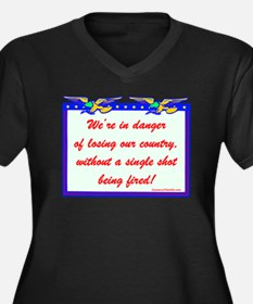 """""""Losing Our Country!"""" Women's Plus Size V-Neck Dar"""