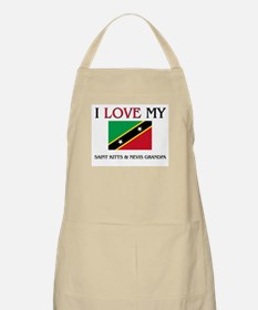 I Love My Saint Kitts & Nevis Grandpa BBQ Apron