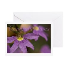 Congratulations in flowers Greeting Card
