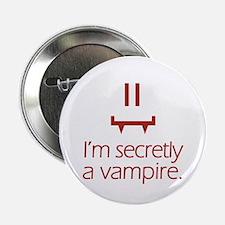 "Vampy Smiley 2.25"" Button"