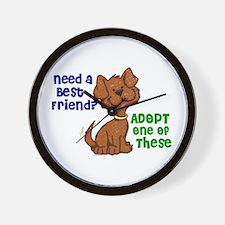 Need A Best Friend 2 Wall Clock