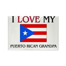 I Love My Puerto Rican Grandpa Rectangle Magnet (1